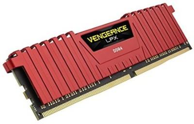 Corsair 16-16-16-39 DDR4 8 GB PC DDR4 SDRAM (CMK8GX4M1A2400C16R)(Red)