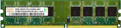 Hynix Genuine DDR2 2 GB (Single Channel) PC (H15201504-7) at flipkart