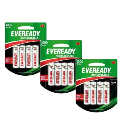 Eveready 1000 Series AA (12 Pcs) Rechargeable Ni-MH Battery  available at flipkart for Rs.899