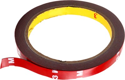 3M Car Scotch Double Sided Automotive Acrylic Foam 12 mm x 10 m Red Reflective Tape(Pack of 1)  available at flipkart for Rs.198