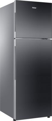 Haier 270 L Frost Free Double Door Refrigerator(Black Glass, HRF-2904PKG-R/E)