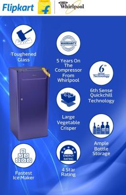 Whirlpool-205-Genius-CLS-Plus-4S-190-Litres-Single-Door-Refrigerator-(Titanium)