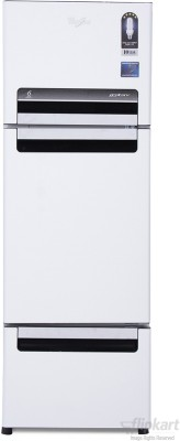 Whirlpool-FP-263D-Protton-Royal-240-Litres-Triple-Door-Refrigerator-(Mirror-Black/White)