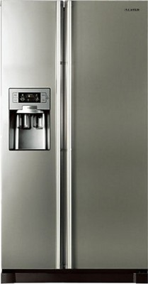 Samsung 585 L Frost Free Side by Side Refrigerator(Platinum Inox, RS21HUTPN1/XT)