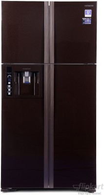 Hitachi 638 L Frost Free Side by Side Refrigerator(Glass Brown, R-W720FPND1X)