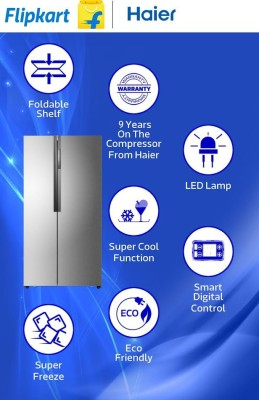 Haier-HRF-618-SS-565-Litres-Side-by-Side-Door-Refrigerator