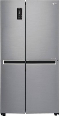 LG 687 L Frost Free Side by Side Refrigerator with with Smart ThinQ WiFi Enabled  Shiny Steel/Platinum Silver3, GC B247SLUV LG Refrigerators