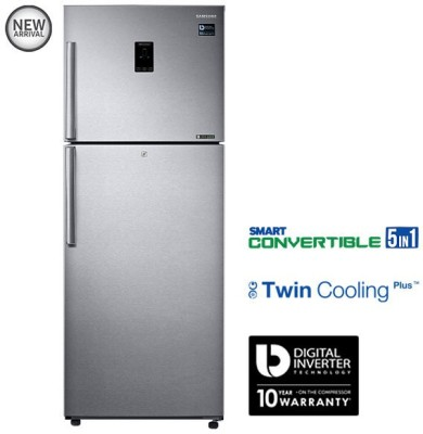 Samsung 415 L Frost Free Double Door Refrigerator(Easy Clean Steel, RT42K5468SL/TL)