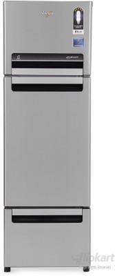 Whirlpool 260 L Frost Free Triple Door Refrigerator(FP 283D PROTTON ROY, Alpha Steel (N), 2017)