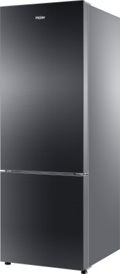 Haier 320 L Frost Free Double Door 3 Star Refrigerator(Black Glass, HRB-3404PKG-R/E)