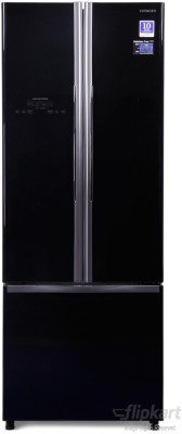 Hitachi 456 L Frost Free French Door Bottom Mount Refrigerator(Glass Black, R-WB480PND2, 2016)