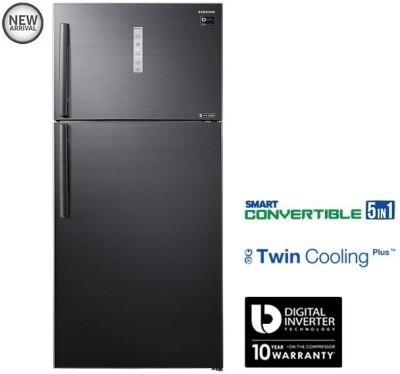 Samsung 670 L Frost Free Double Door 3 Star (2019) Refrigerator(Black Inox, RT65K7058BS/TL)