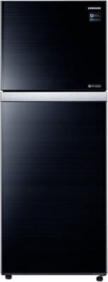 Samsung 415 L Frost Free Double Door 3 Star Refrigerator(Black Glass, RT42K5068GL) at flipkart