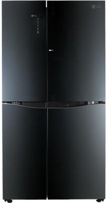 LG 675 L Frost Free Side by Side Refrigerator(Luminous Black, GC-M247UGLB) at flipkart