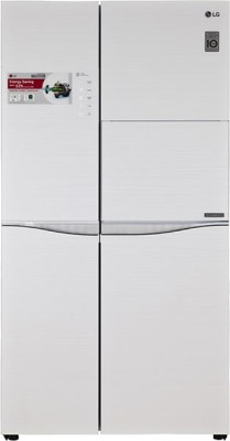 LG 675 L Frost Free Side by Side Refrigerator(Aria White, GC-C237JGGV)
