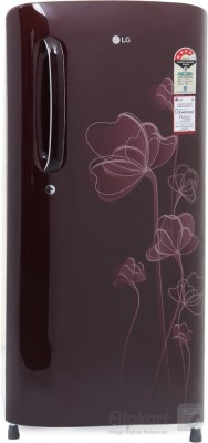 LG 190 L Direct Cool Single Door Refrigerator(GL-B201ASHP, Scarlet Heart, 2016)
