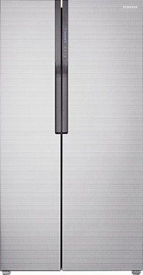 Samsung 591 L Frost Free Side by Side Refrigerator(Fair Isle Silver, RS552NRUA7E)