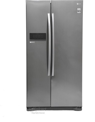 Lg 581 L Frost Free Side By Side Refrigeratorplatinum Silver3 Gc