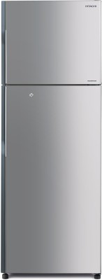 Hitachi 318 L Frost Free Double Door Refrigerator(Lined Metallic Silver, R-H350PND4K (SLS))