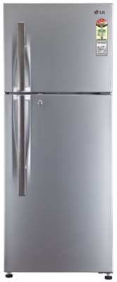 LG 258 L Frost Free Double Door 3 Star Refrigerator(Shiny Steel, GLM292RPZL)