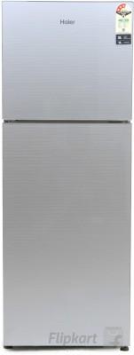 Haier 247 L Frost Free Double Door Refrigerator(Silver Glass, HRF-2674PSG-R) at flipkart