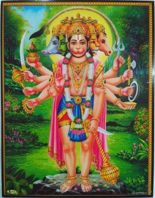 KHOND PANCHAMUKHI HANUMAN PHOTO FRAME Religious Frame  available at flipkart for Rs.300