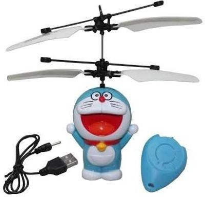 Angella Flying Doraemon Sensor Helicopter(Blue, White)