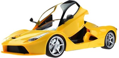 Turban Toys Battery Operated Remote Control Rechargeable Ferrari Car With Open Door(Yellow)