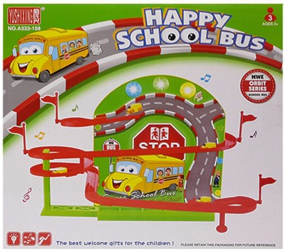 Vaibhav DIY Happy School Bus New Orbit Series Light Musical Track Set Car Toy(Multicolor)  available at flipkart for Rs.499