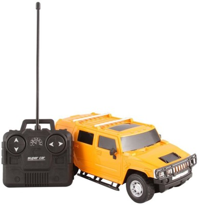 AM Enterprises Rechargeable R/C Yellow Hummer Car(Yellow)