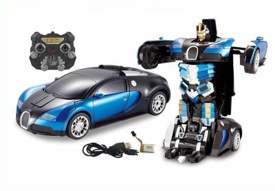 CATERPILLAR Remote Controlled One Button Transformer to car to Trandformer converting Bugatti Style Transformer(Multi Colored)