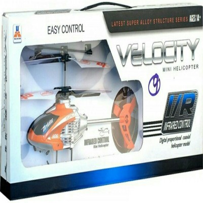 meghanshi velocity remote control helicopter(orange/silver)