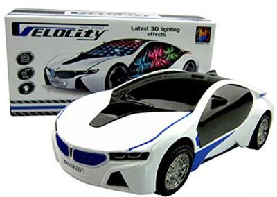 Vishwakarma Enterprises 3D Lighting Super Car Toy(White)  available at flipkart for Rs.285