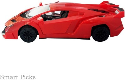 Reyhawk Rechargeable Remote Control Open Door With Led Lights Lamborghini Model Car Scale 1:18(Red)  available at flipkart for Rs.890