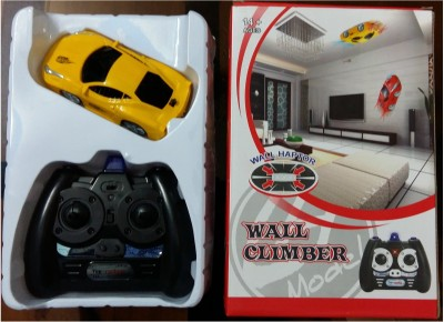 R/C Wall Climber Remote Control Car with Infrared Technology(Yellow)