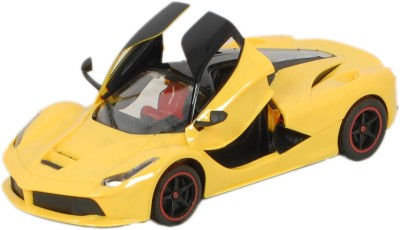 TRD Store Rechargeable Ferrari Style RC Car With Fully Function Doors(Yellow)