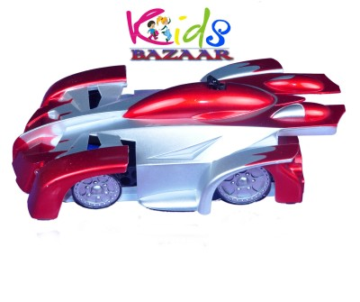 Kids Bazaar Wall Climber Car - Radio Control - Zero Gravity Wall Climbing Rc Car - Multicolour(Red, Silver, Blue)  available at flipkart for Rs.639