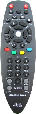 Indiashopers Compatible New Model Videocon D2H Set top Box with TV Keys Remote Controller(Black)