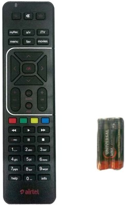 Airtel DIGITAL TV Recording + AA/AAA battery Airtel Remote Controller