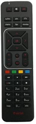 Airtel Remote Controller Radhikacomnet Airtel Digital TV DTH Remote Control Works With Your TV Also Remote Controller(Black)