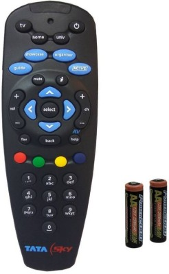 TATASKY Remote Controller Radhikacomnet Tata Sky Tata Sky universal Original Universal Remote Controller  Black  TATA SKY Remote Remote Controller