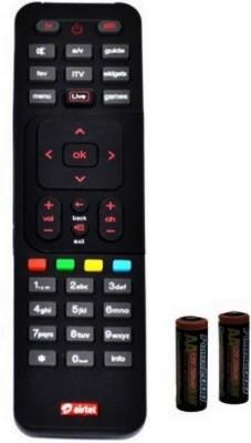 Airtel 100% Original Non Recording  Sold By Digiland  Airtel Digital Tv Remote Controller Black Airtel Appliance Parts   Accessories