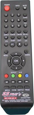 SJS China Lcd/Led Universal-17 Remote Controller(Black)