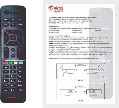 Airtel Digital Tv Original Universal With User Manual Remote Controller(Black)