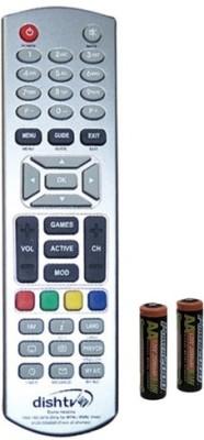 Dish Tv ORIGINAL which comes with Setop box Remote Controller(Silver)