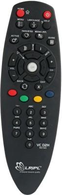 Lripl DTH REMOTE Compatible for Videocon Remote Controller(Black)