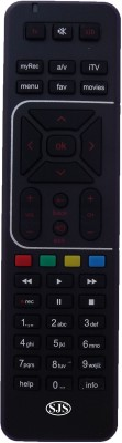 SJS T.V Lcd Led ART HD RC Remote Controller Black