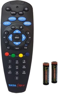 Tata Sky ORIGINAL HD+ PLUS UNIVERSAL WITH USER MANUAL Remote Controller(Black)