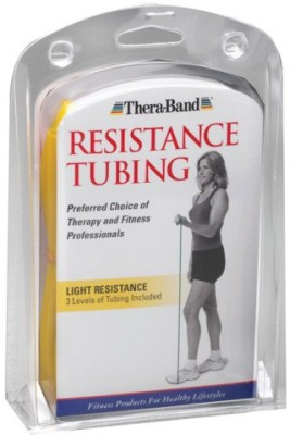 Thera Band Beginner Light Resistance Tube Yellow, Red, Green Thera Band Resistance Tubes