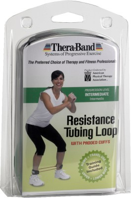 Thera Band Loop with Padded Cuff Resistance Tube Green Thera Band Resistance Tubes